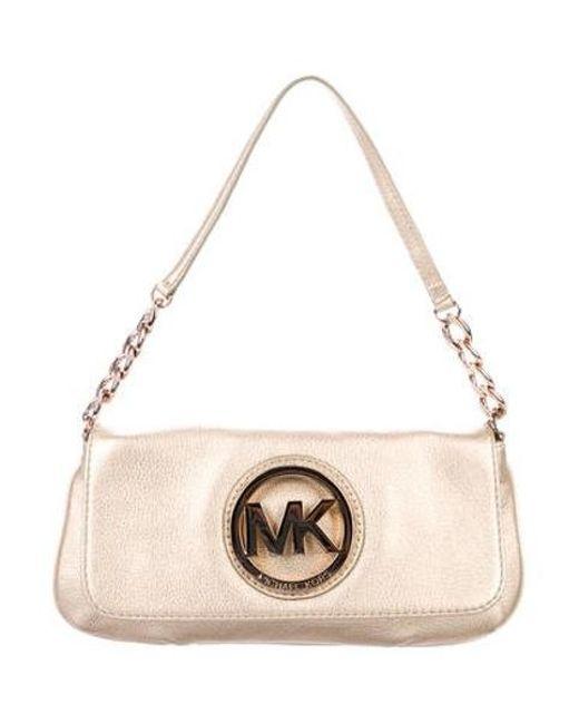 41a42ed3770ae MICHAEL Michael Kors - Metallic Michael Kors Small Fulton Shoulder Bag Gold  - Lyst ...