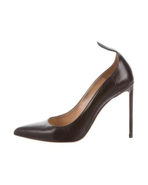 c3d951f55047 Francesco Russo - Black Leather Pointed-toe Pumps - Lyst ...