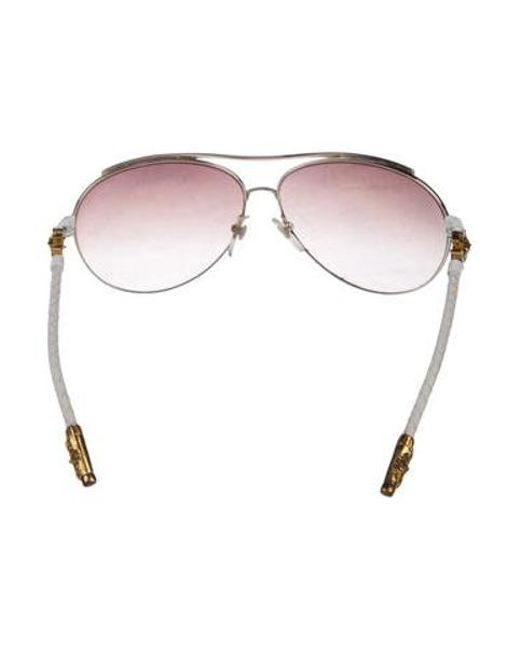 3834505a8f4 ... Chrome Hearts - Metallic Jism Aviator Sunglasses Gold - Lyst ...