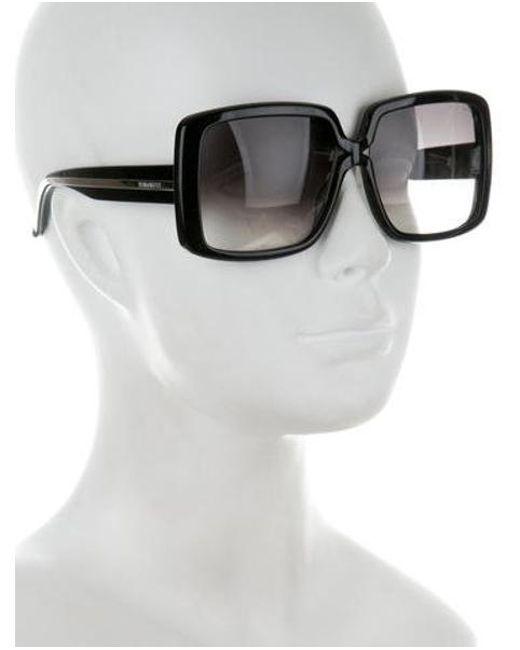 600ae52b52 ... Nina Ricci - Black Oversize Square Sunglasses - Lyst
