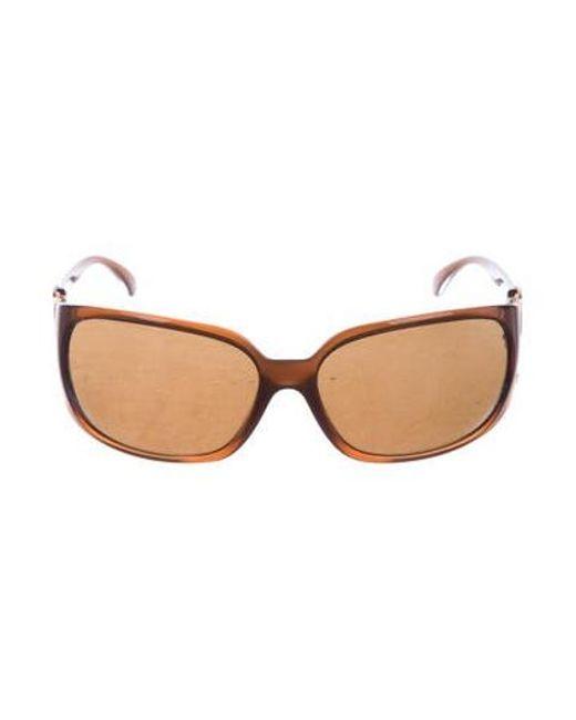 71b6aea2693 Chanel - Metallic Square Cc Sunglasses Brown - Lyst ...