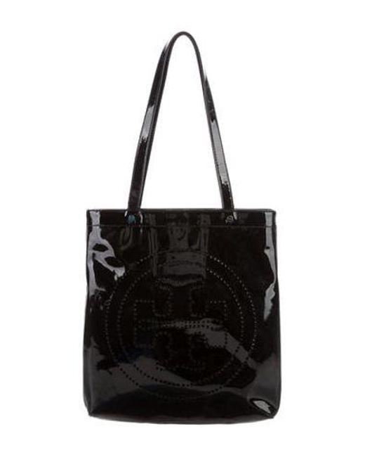 4752c2995e57 Tory Burch - Metallic Patent Leather Tote Black - Lyst ...