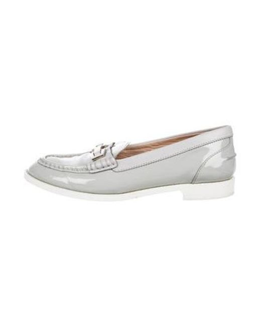 dd726c945f1 Tod s - Metallic Patent Leather Loafers Grey - Lyst ...