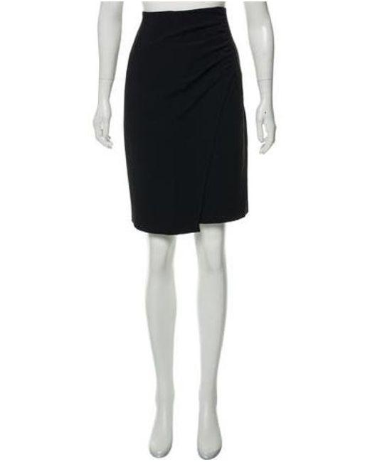 fdefa236ac Etro - Black Ruched Drape Skirt - Lyst ...