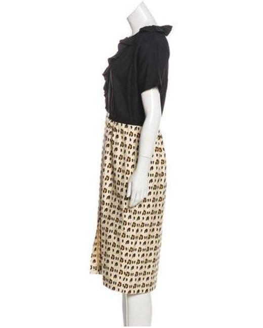 2b2ca20c17 ... Giambattista Valli - Black Silk Animal Print Dress - Lyst ...