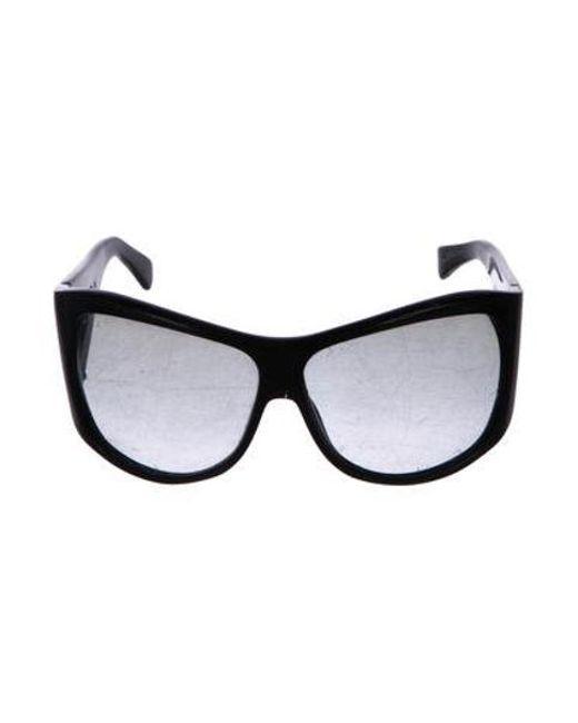55e5334c8cdb9 Stella McCartney - Black Gradient Shield Sunglasses - Lyst ...