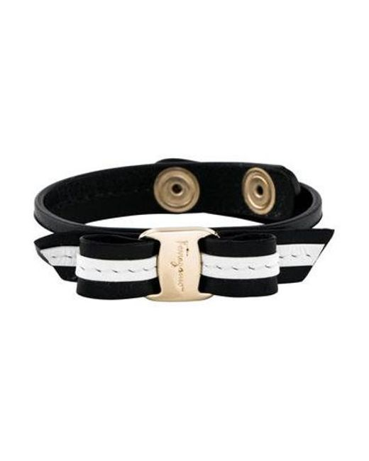 Ferragamo - Metallic Bow Bracelet Gold - Lyst
