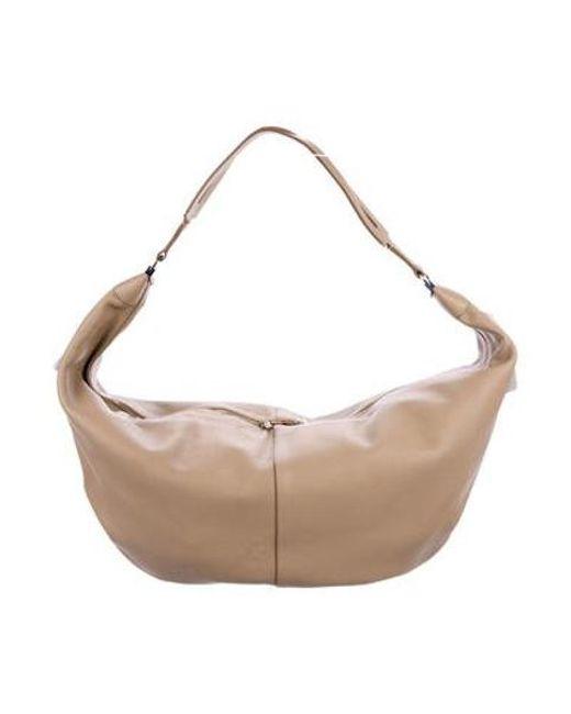 4298a8f3838c The Row - Metallic Sling Hobo Bag Tan - Lyst ...