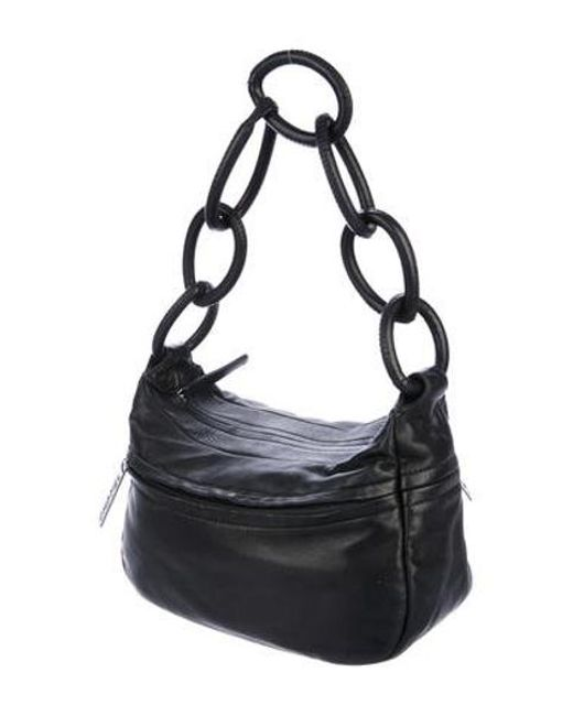 7367a6dcb1a2 ... Chanel - Metallic Lambskin Chain-link Shoulder Bag Black - Lyst ...