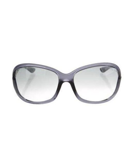 ba4d5e6436 Tom Ford - Metallic Jennifer Gradient Sunglasses Grey - Lyst ...