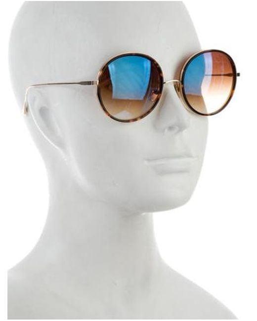 ff00c9495c5 ... Dita - Metallic Freebird Tinted Sunglasses Gold - Lyst
