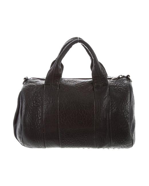 de2348dd8e9e ... Alexander Wang - Metallic Rocco Duffel Bag Black - Lyst ...