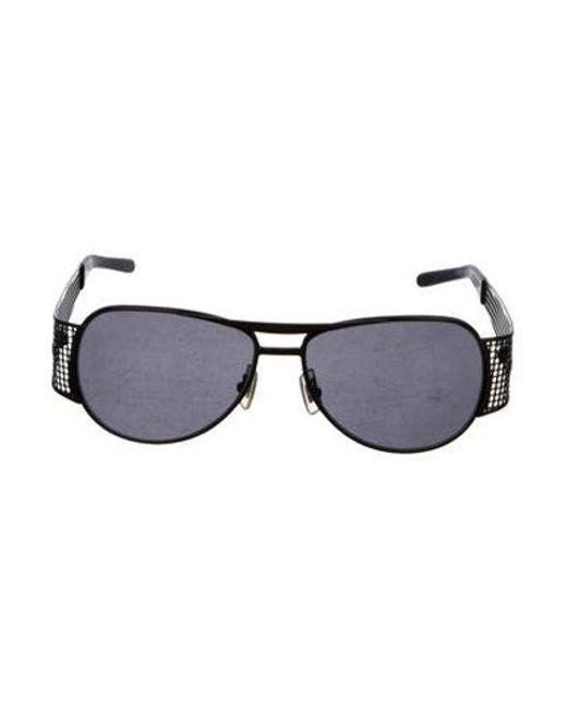 d363970c203 Miu Miu - Black Miu Aviator Tinted Sunglasses - Lyst ...