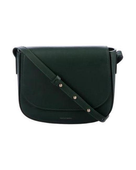 fb001c947307 Mansur Gavriel - Metallic Leather Crossbody Bag Green - Lyst ...