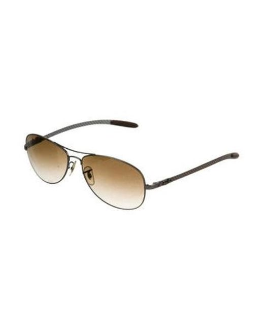 9bb7c01df49 ... Ray-Ban - Metallic Polarized Aviator Sunglasses Silver for Men - Lyst  ...