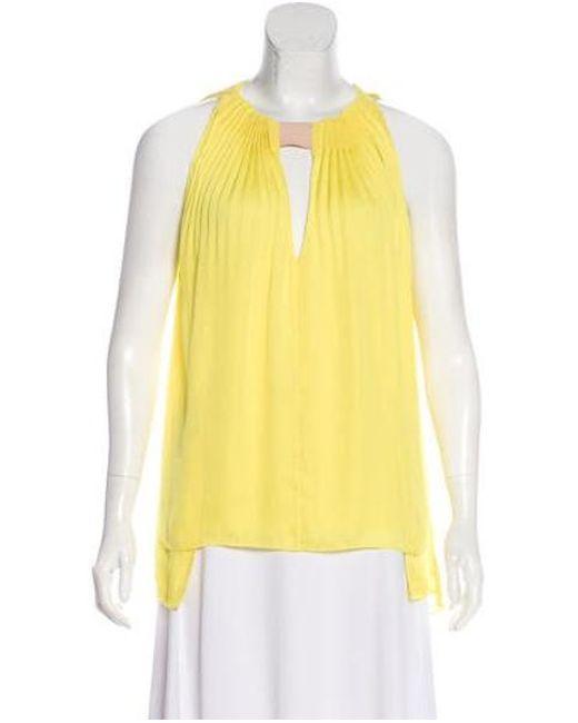 a9341b49c186f Diane von Furstenberg - Natural Isaye Sleeveless Top Yellow - Lyst ...