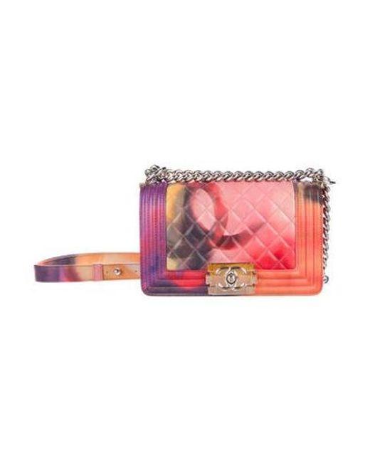 Chanel - Metallic Summer 2015 Small Flower Power Boy Bag Pink - Lyst