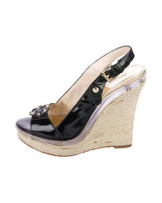 631ca661262e Michael Kors - Black Platform Wedge Pumps - Lyst ...