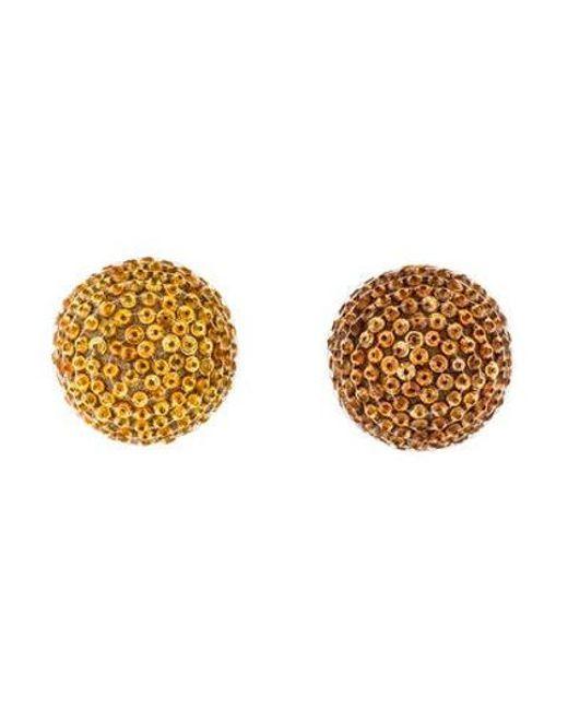 Rebecca de Ravenel - Metallic Mismatched Beaded Clip-on Earrings Gold - Lyst