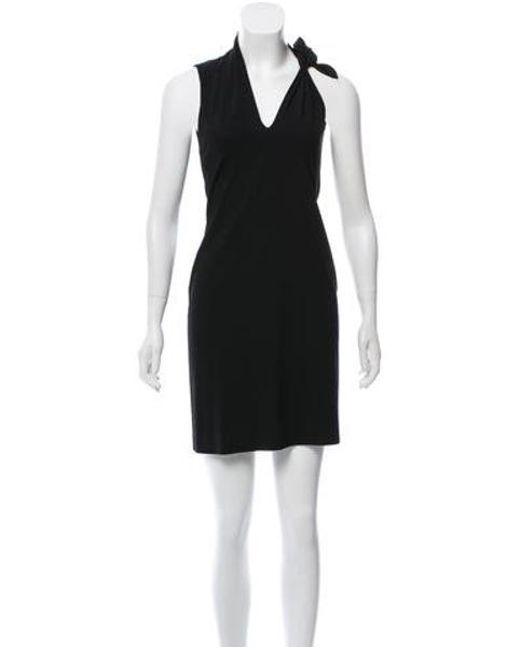 Jean Paul Gaultier - Black Wool V-neck Dress - Lyst