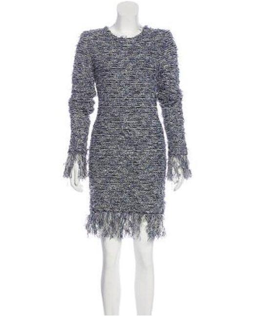 f82c96ee Balmain - Metallic Tweed Mini Dress Blue - Lyst ...