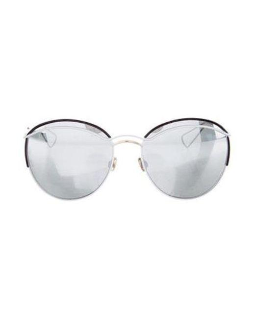 79a152df3df Dior - Metallic Dioround Reflective Sunglasses White - Lyst ...