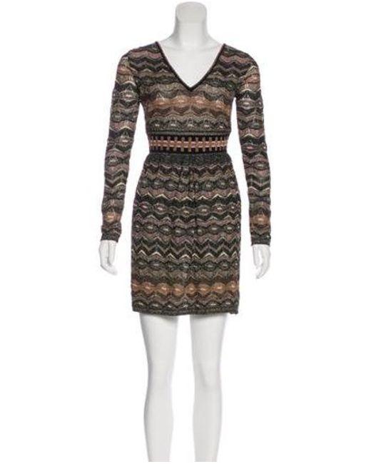 26a8bfc2d0 Missoni - Black Metallic Patterned Dress - Lyst ...