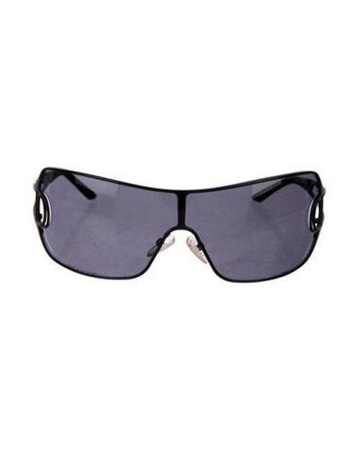 d3b0990f3c3 Dior - Black Shield Tinted Sunglasses - Lyst ...