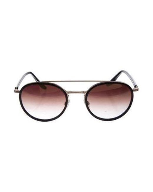 Lyst - Barton Perreira Gradient Round Sunglasses Gold in Metallic