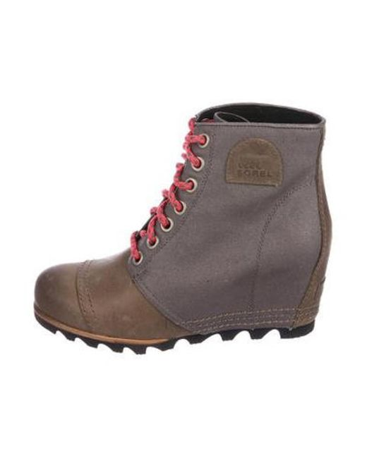 cbff460fb01 Sorel - Natural 1964 Premium Wedge Boots Grey - Lyst ...
