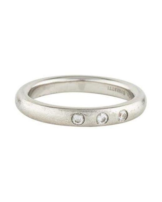 6b6b4230d33c Tiffany   Co - Metallic Platinum Diamond Band - Lyst ...