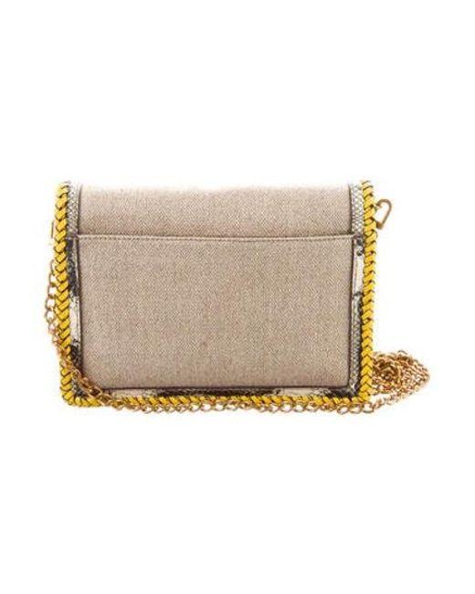 9e22966ce82d9 ... Tory Burch - Metallic Kira Crossbody Bag Beige - Lyst