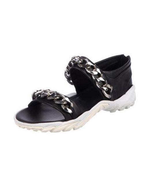 681b3c886926 ... Givenchy - Metallic Chain-detail Slide Sandals Black for Men - Lyst ...