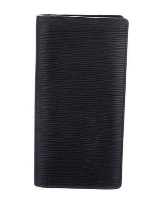 e42ec406d0a9 Louis Vuitton - Metallic 2017 Epi Brazza Wallet Black - Lyst ...