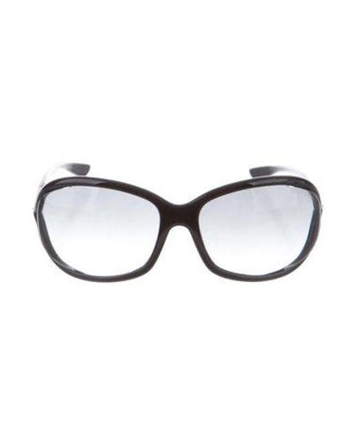 78f9be500f1a0 Tom Ford - Metallic Jennifer Gradient Sunglasses Black - Lyst ...