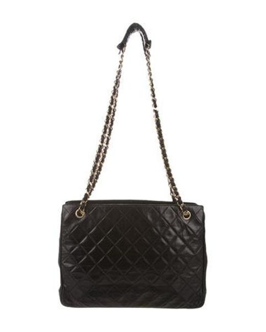702e29ac148c Chanel - Metallic Quilted Shoulder Bag Black - Lyst ...