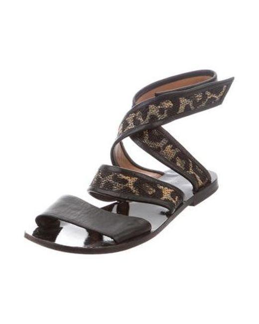 3f601fe3c8dd37 ... 3.1 Phillip Lim - Black Jenny Leather Sandals - Lyst ...