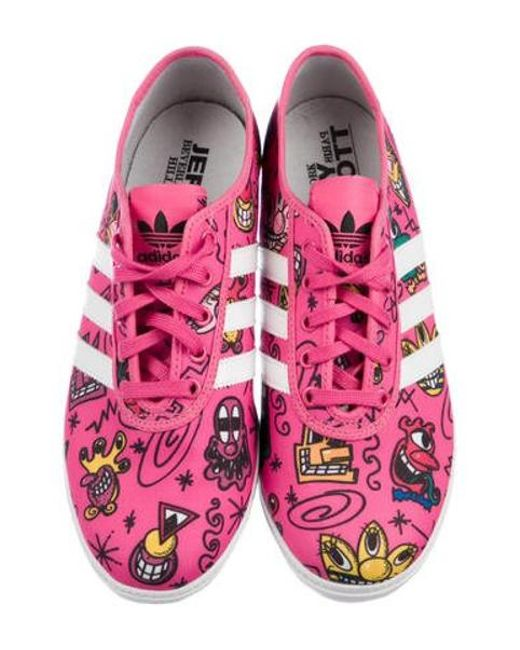 3a14b92837b3 ... Jeremy Scott for adidas - Pink Printed Low Top Sneakers - Lyst ...