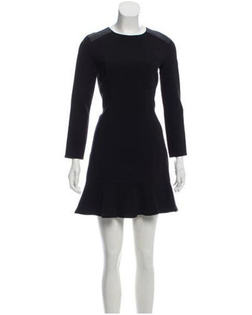 Lyst Sandro Long Sleeve Shift Dress In Black