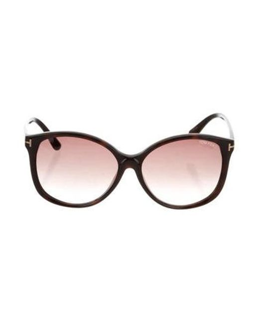 2fdfe6cad5b Tom Ford - Black Alicia Gradient Sunglasses - Lyst ...