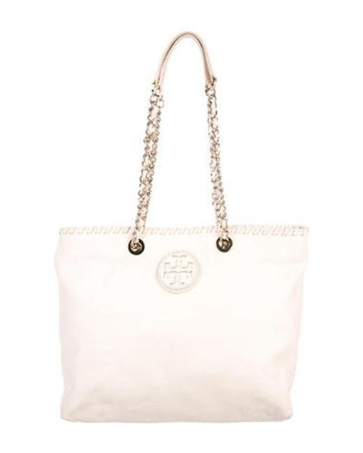 7cd3674a5fdf Tory Burch - Metallic Small Marion Tote Gold - Lyst ...