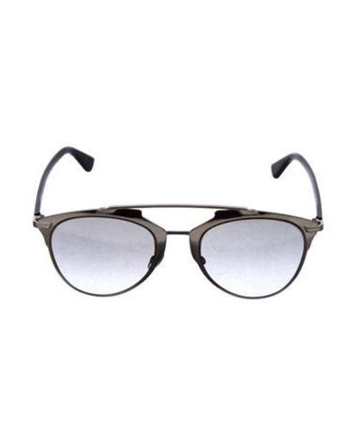 Dior - Metallic Reflected Round Sunglasses - Lyst