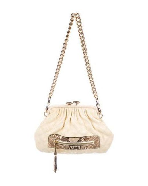07fae9246446 Marc Jacobs - Metallic Python-trimmed Little Stam Bag Gold - Lyst ...