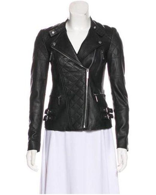 MICHAEL Michael Kors - Black Michael Kors Quilted Leather Jacket - Lyst