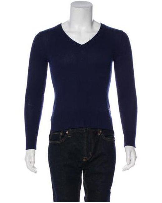 486137cfc3e4 Lyst - Loro Piana Baby Cashmere Sweater in Blue
