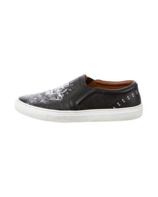 ae5939f93f65 Givenchy - Black Skull Slip-on Sneakers for Men - Lyst ...