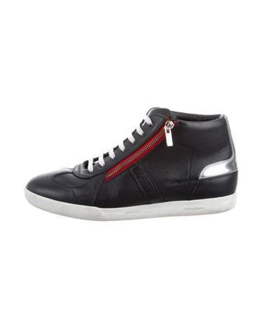 Dior Homme - Blue Leather High-top Sneakers Navy for Men - Lyst ... 5478492ab75