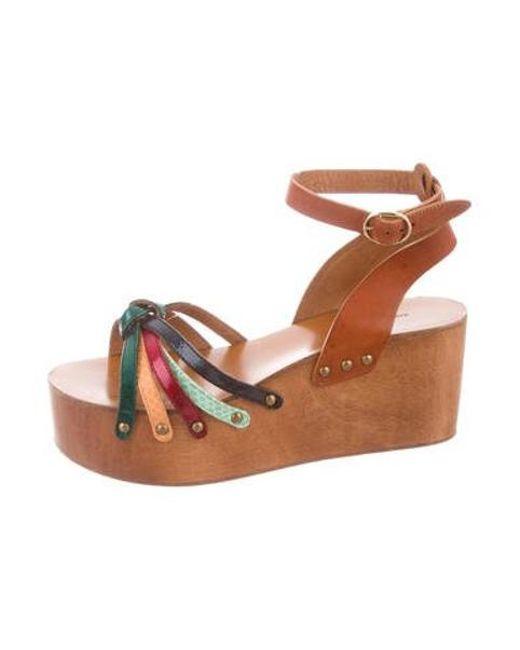 00033ec01db Étoile Isabel Marant - Natural Disco Platform Sandals Tan - Lyst ...