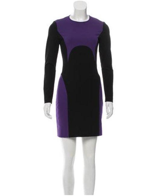 69f6ae26344c9 Michael Kors - Black Long Sleeve Mini Dress - Lyst ...