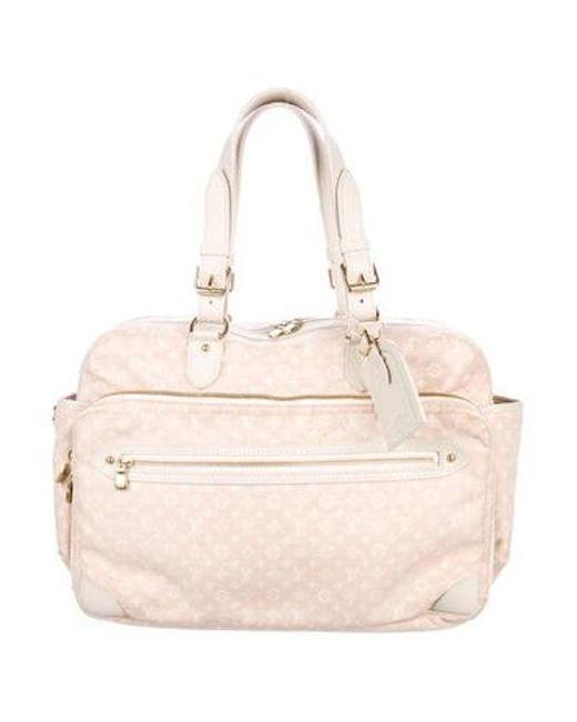 Lyst Louis Vuitton Mini Lin Sac A Langer Diaper Bag In Pink